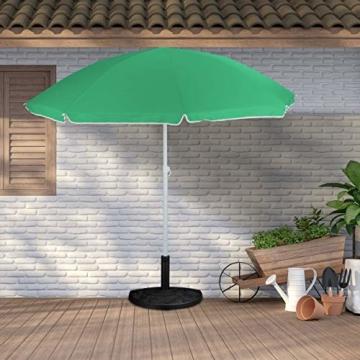 Relaxdays Sonnenschirmständer halbrund, für Schirmstangen 34-50 mm, wetterfest, Blumen Design, Garten & Balkon, schwarz - 2