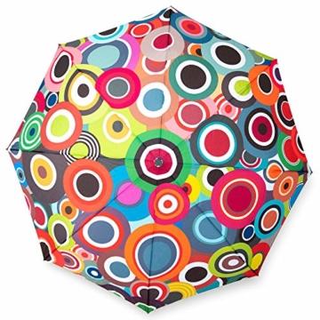 Remember Unisex– Erwachsene Rondo Taschenschirm, Bunt, geschlossen 29 cm, Ø 5,5 cm. Maße geöffnet: Länge 58 cm, Ø 100 cm - 1