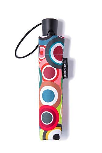 Remember Unisex– Erwachsene Rondo Taschenschirm, Bunt, geschlossen 29 cm, Ø 5,5 cm. Maße geöffnet: Länge 58 cm, Ø 100 cm - 5