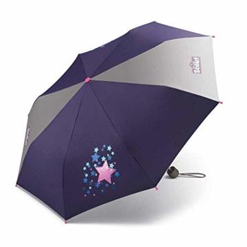Scout Kinder Regenschirm Taschenschirm Schultaschenschirm mit großen Reflektionsflächen extra leicht Sweet Stars - 1