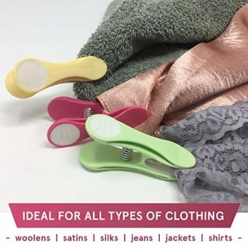 Soft Grip Wäscheklammern von Smith's® (Packung mit 20 - Pastellfarben) | Wäscheklammern | Keine schädigenden Abdrücke mehr | Starker und sicherer Griff | Leicht zu öffnen | 3 Jahre Garantie - 2