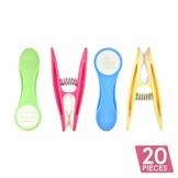 Soft Grip Wäscheklammern von Smith's® (Packung mit 20 - Pastellfarben) | Wäscheklammern | Keine schädigenden Abdrücke mehr | Starker und sicherer Griff | Leicht zu öffnen | 3 Jahre Garantie - 1