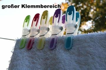 SOHFA Wäscheklammern - 50er Set Wäscheklammer- Klammern aus stabilem Kunststoff mit Soft-Grip - für Wäscheleine, Wäschespinne oder Wäscheständer (50 Stück) - 7