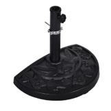 SONLEX Halbrunder Sonnenschirmständer für halbe Sonnenschirme auf schmalen Balkons oder Terrassen, mit Wandanker, Aufnahmehülse mit Reduzierring, 9 kg, schwarz - 1