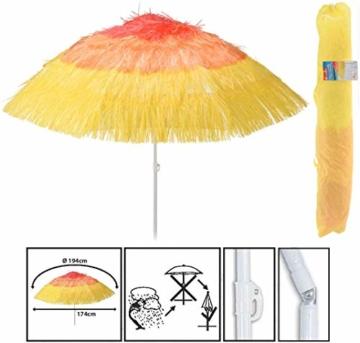 Spetebo Strandschirm Hawaii Ø 174 cm - knickbar - Bogenspannweite 194 cm - Sonnenschirm Balkonschirm Gartenschirm - 2
