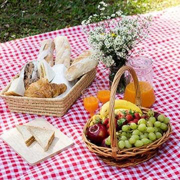 SPGOOD Picknickdecke 220 X 200CM 3XL 2-6 Personen wasserdichte Stranddecke Campingdecke wärmeisoliert Familiengröße Matte für Picknicks, Essen im Freien, Camping, Strand (Grünes Plaid) - 5