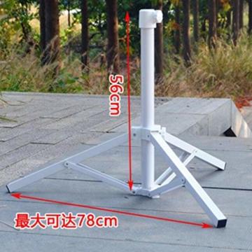 Stahl Sonnenschirmhalter Balkonschirmständer Schirmständer Sonnenschirmständer für 22-25 mm Stangen - 2