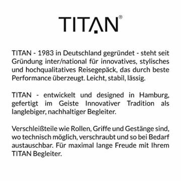 TITAN 4-Rad Handgepäck Koffer mit TSA Schloss, erfüllt IATA-Bordgepäckmaß, Gepäck Serie HIGHLIGHT: Leichte Hartschalen Trolleys im Carbon Look, 842406-86, 55 cm, 38 Liter, khaki (grün) - 2