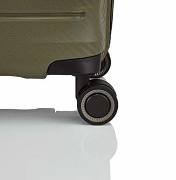 TITAN 4-Rad Handgepäck Koffer mit TSA Schloss, erfüllt IATA-Bordgepäckmaß, Gepäck Serie HIGHLIGHT: Leichte Hartschalen Trolleys im Carbon Look, 842406-86, 55 cm, 38 Liter, khaki (grün) - 5