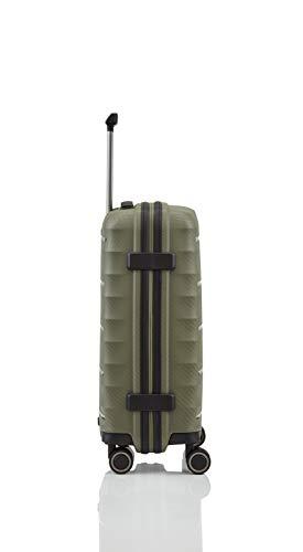 TITAN 4-Rad Handgepäck Koffer mit TSA Schloss, erfüllt IATA-Bordgepäckmaß, Gepäck Serie HIGHLIGHT: Leichte Hartschalen Trolleys im Carbon Look, 842406-86, 55 cm, 38 Liter, khaki (grün) - 6