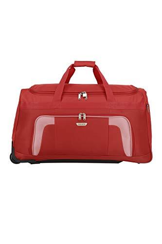 Travelite 2-Rad Trolley Reisetasche, Gepäck Serie ORLANDO: Klassische Weichgepäck Reisetasche mit Rollen im zeitlosen Design, 098481-10, 73 Liter, 2,7 kg, rot - 2