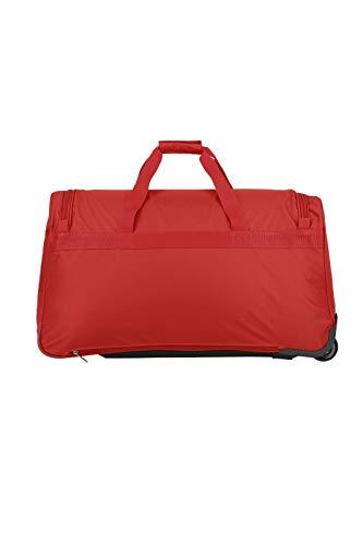 Travelite 2-Rad Trolley Reisetasche, Gepäck Serie ORLANDO: Klassische Weichgepäck Reisetasche mit Rollen im zeitlosen Design, 098481-10, 73 Liter, 2,7 kg, rot - 4