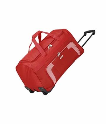 Travelite 2-Rad Trolley Reisetasche, Gepäck Serie ORLANDO: Klassische Weichgepäck Reisetasche mit Rollen im zeitlosen Design, 098481-10, 73 Liter, 2,7 kg, rot - 1