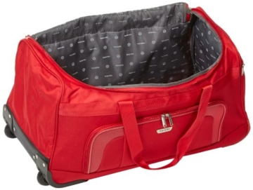 Travelite 2-Rad Trolley Reisetasche, Gepäck Serie ORLANDO: Klassische Weichgepäck Reisetasche mit Rollen im zeitlosen Design, 098481-10, 73 Liter, 2,7 kg, rot - 6