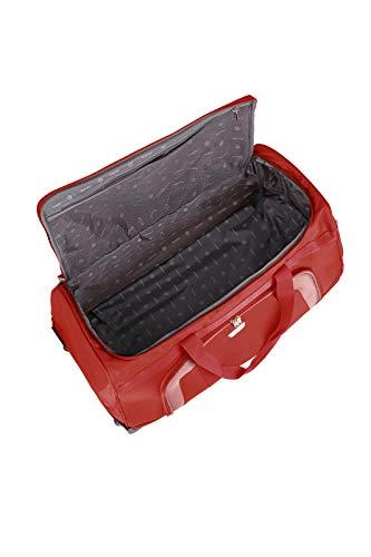 Travelite 2-Rad Trolley Reisetasche, Gepäck Serie ORLANDO: Klassische Weichgepäck Reisetasche mit Rollen im zeitlosen Design, 098481-10, 73 Liter, 2,7 kg, rot - 7