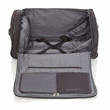 travelite Trolley Reisetasche Größe M, Gepäck Serie CROSSLITE: Robuste Weichgepäck Reisetasche mit Rollen im Business Look, 089502-01, 69 cm, 82 Liter, schwarz - 3