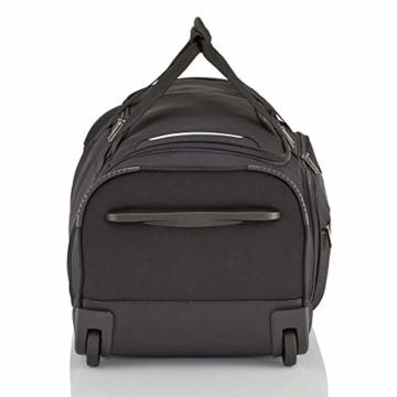 travelite Trolley Reisetasche Größe M, Gepäck Serie CROSSLITE: Robuste Weichgepäck Reisetasche mit Rollen im Business Look, 089502-01, 69 cm, 82 Liter, schwarz - 6