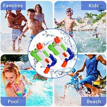 Ucradle 2 × Wasserpistole, Wasserpistolen groß 1.2L mit 11 Meter Reichweite für Kinder und Erwachsene, Water Gun Blaster Spielzeug für Sommerpartys im Freien, Strand, Pool, Garten Strandspielzeug - 7