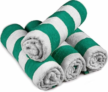 Utopia Towels - 4er Pack XXL Strandtuch Baumwolle Cabana Stripe - 76 x 152 cm, Varietät Pack - 3