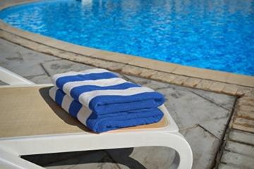 Utopia Towels - 4er Pack XXL Strandtuch Baumwolle Cabana Stripe - 76 x 152 cm, Varietät Pack - 4