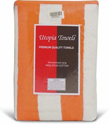 Utopia Towels - 4er Pack XXL Strandtuch Baumwolle Cabana Stripe - 76 x 152 cm, Varietät Pack - 6