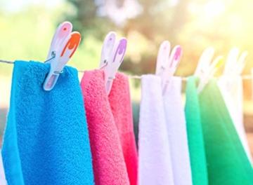 Vilenia Home 50 Stück Premium Wäscheklammern Softgrip - Ideal für Klammerbeutel, Wäscheklammern Korb oder Wäscheständer - Wäscheklammer aus Kunststoff ohne Druckstellen - 4