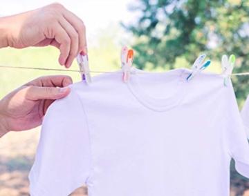 Vilenia Home 50 Stück Premium Wäscheklammern Softgrip - Ideal für Klammerbeutel, Wäscheklammern Korb oder Wäscheständer - Wäscheklammer aus Kunststoff ohne Druckstellen - 5