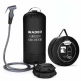 WADEO Campingdusche mit Pumpe, Druckdusche Dusche Tasche Reisedusche 15 Liter mit Duschkopf tragbare und Abnehmbarem Schlauch Duschen Beutel Shower für Wandern, im Freien, Klettern (Schwarz) - 1