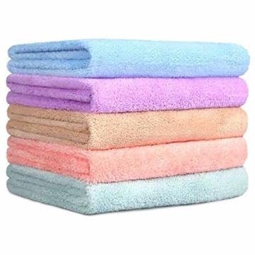 Yoofoss Handtuch 5er Pack 35x75cm Handtücher Set Kleine Frottier Handtücher Farbliche Frottee Leichte Ausbleichsiche Gästhandtücher Handtuch Set Kleine 5 Farben Frottiertücher Towel - 1