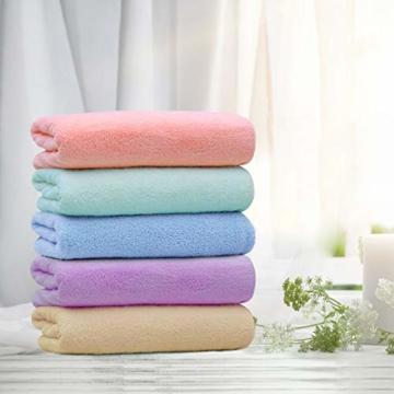 Yoofoss Handtuch 5er Pack 35x75cm Handtücher Set Kleine Frottier Handtücher Farbliche Frottee Leichte Ausbleichsiche Gästhandtücher Handtuch Set Kleine 5 Farben Frottiertücher Towel - 7