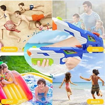 2er Pack wasserpistole ,Reichweite 9 Meter ,wasserpistole mit großer reichweite,wasserpistole spielzeug,wassergewehr für erwachsene kinder, Sommer Strand Pool Spielzeug für Kinder Erwachsener - 2