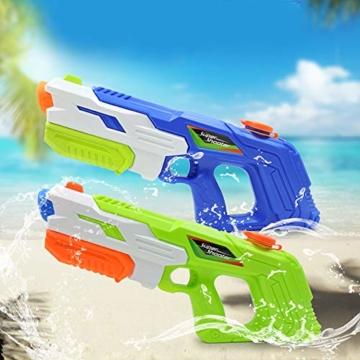 2er Pack wasserpistole ,Reichweite 9 Meter ,wasserpistole mit großer reichweite,wasserpistole spielzeug,wassergewehr für erwachsene kinder, Sommer Strand Pool Spielzeug für Kinder Erwachsener - 3