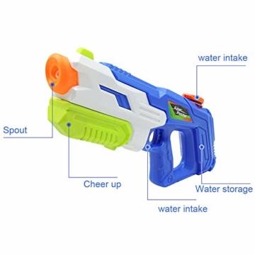 2er Pack wasserpistole ,Reichweite 9 Meter ,wasserpistole mit großer reichweite,wasserpistole spielzeug,wassergewehr für erwachsene kinder, Sommer Strand Pool Spielzeug für Kinder Erwachsener - 4