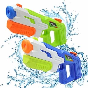 2er Pack wasserpistole ,Reichweite 9 Meter ,wasserpistole mit großer reichweite,wasserpistole spielzeug,wassergewehr für erwachsene kinder, Sommer Strand Pool Spielzeug für Kinder Erwachsener - 1