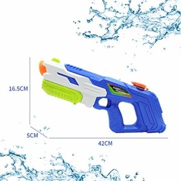 2er Pack wasserpistole ,Reichweite 9 Meter ,wasserpistole mit großer reichweite,wasserpistole spielzeug,wassergewehr für erwachsene kinder, Sommer Strand Pool Spielzeug für Kinder Erwachsener - 6