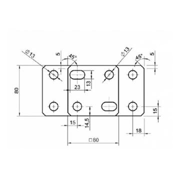 6er Set Stützenfuß Pfostenträger verstellbar mit Platte und verdecktem Anschluss - 4