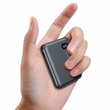 AINOPE Power Bank, eines der kleinsten tragbaren 10000mAh 3A PD QC 3.0 Ladegeräte, 18W Telefonakku mit DREI Ausgängen, [LED-Anzeige] kompatibles iPhone, iPad, Samsung Galaxy usw. - 1