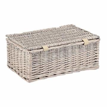 anndora Picknickkorb 4 Personen Weidenkorb Beige mit Zubehör 21 Teilig - 4