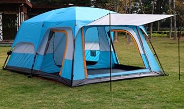 Außenzelt 4-6 Personen-Zelt im Freien Zwei-Zimmer Einer Halle zweischichtige Mehrpersonen Camping Camping-Zelt regendicht Bergsteigen verdickt Zelt (Color : 2) - 2