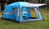 Außenzelt 4-6 Personen-Zelt im Freien Zwei-Zimmer Einer Halle zweischichtige Mehrpersonen Camping Camping-Zelt regendicht Bergsteigen verdickt Zelt (Color : 2) - 1