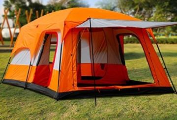 Außenzelt 4-6 Personen-Zelt im Freien Zwei-Zimmer Einer Halle zweischichtige Mehrpersonen Camping Camping-Zelt regendicht Bergsteigen verdickt Zelt (Color : 2) - 3