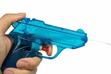 BG Wasserpistole Spielzeug für Kinder - 4 Mini Wasserpistolen mit großer Reichweite für den Strand Urlaub, Pool Partys und Aktivitäten im Freien - Water Gun Spritzpistolen ab 3 Jahren (12cm) - 2