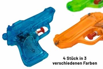 BG Wasserpistole Spielzeug für Kinder - 4 Mini Wasserpistolen mit großer Reichweite für den Strand Urlaub, Pool Partys und Aktivitäten im Freien - Water Gun Spritzpistolen ab 3 Jahren (12cm) - 4