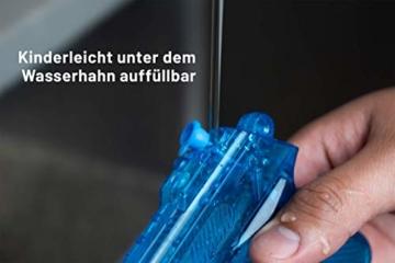 BG Wasserpistole Spielzeug für Kinder - 4 Mini Wasserpistolen mit großer Reichweite für den Strand Urlaub, Pool Partys und Aktivitäten im Freien - Water Gun Spritzpistolen ab 3 Jahren (12cm) - 5