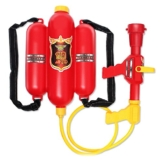 Brigamo Feuerwehr Lösch Wasserpistole, Wasserspritzpistole mit 1.5 Liter Tank Spritze - 1