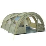 CampFeuer Tunnelzelt Multi Zelt für 4 Personen | riesiger Vorraum, 5000 mm Wassersäule | mit Bodenplane und versetzbarer Vorderwand | Campingzelt Familienzelt (olivgrün) - 1