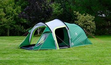 Coleman Chimney Rock 3 Plus Zelt, 3 Personen Tunnelzelt, 3 Mann Camping-Zelt, große abgedunkelte Schlafkabine blockiert bis zu 99% des Tageslichts, wasserdicht WS 4.500 mm - 2