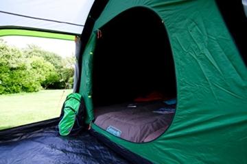 Coleman Chimney Rock 3 Plus Zelt, 3 Personen Tunnelzelt, 3 Mann Camping-Zelt, große abgedunkelte Schlafkabine blockiert bis zu 99% des Tageslichts, wasserdicht WS 4.500 mm - 3