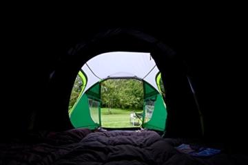 Coleman Chimney Rock 3 Plus Zelt, 3 Personen Tunnelzelt, 3 Mann Camping-Zelt, große abgedunkelte Schlafkabine blockiert bis zu 99% des Tageslichts, wasserdicht WS 4.500 mm - 6