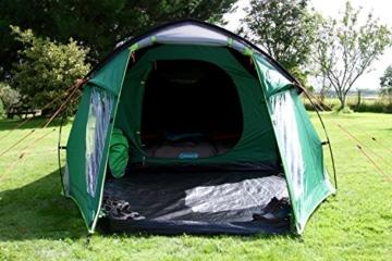 Coleman Chimney Rock 3 Plus Zelt, 3 Personen Tunnelzelt, 3 Mann Camping-Zelt, große abgedunkelte Schlafkabine blockiert bis zu 99% des Tageslichts, wasserdicht WS 4.500 mm - 7